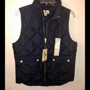 NWT Woolrich Down Vest Sz Medium; Dark Blue